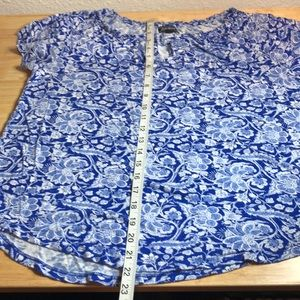 Lucky Brand Tops - Lucky Brand blue floral top